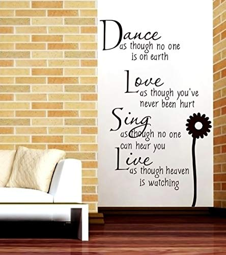 Christmas Clearance , Dance Love Sing Live Wall Murals Art Decor Room Home Decoration Quote Decals Wall Sticker