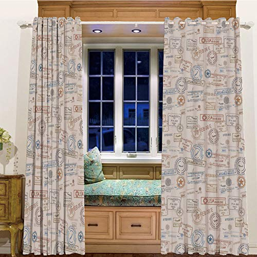 Room Darkening Thermal Blackout Grommet Window Curtain for