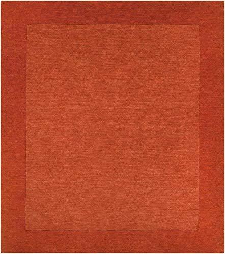 (Surya M300-99SQ Mystique 10' Square Wool Hand Loomed Solid Area Rug, Orange)