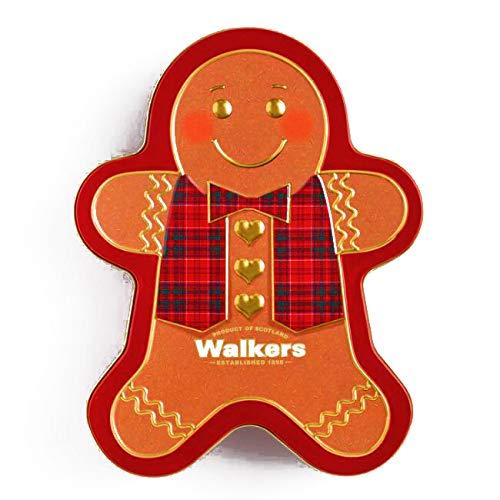 Walkers Gingerbread Man Shortbread Tin 10.6 oz each (1 Item Per Order, not per case) -