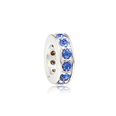 a46c83a58 Spacer September Birthstone 925 Sterling Silver Bead Fits Pandora Charm  Bracelet: Amazon.co.uk: Jewellery