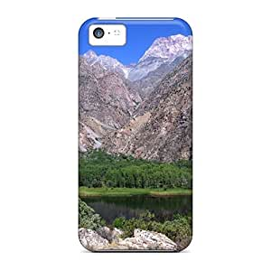Tough Iphone XRe38449cSOe Cases Covers/ Cases For Iphone 5c(green Isl In Mountains)