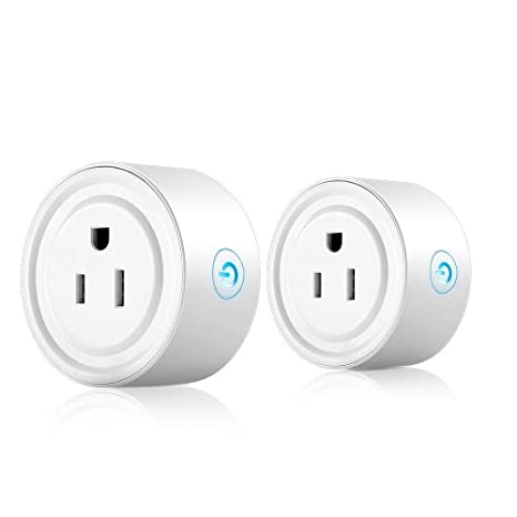 TYJ Wi-Fi Smart Plug, Smart Outlet Compatible with Alexa Remote and Google  Home, Controlled By Smart Phone (2Pack)