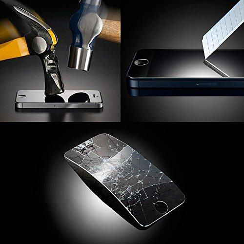 WoowCase   Flexible Gel Schutzhülle für [ iPhone 7 Plus ] [ +1 Schutzglas ] Hartglas, Hülle Case TPU Silikon in Schwarz