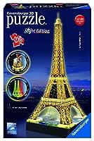Ravensburger 12579 - Eiffelturm bei Nacht - 216 Teile 3D-Puzzle-Bauwerk Night...