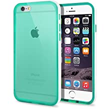 iPhone 6 Plus Case, MagicMobile® [Bumper Frame] Protective Shockproof Cover for Apple iPhone 6 Plus (5.5') Clear Transparent Slim Rubber TPU with White Bumper Frame Hard Flexible Case, Color: Turquoise