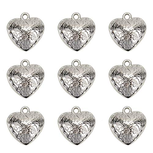 art Charm Pendants Silver Plated Chain Drops Charms for Jewerry Making (1.4