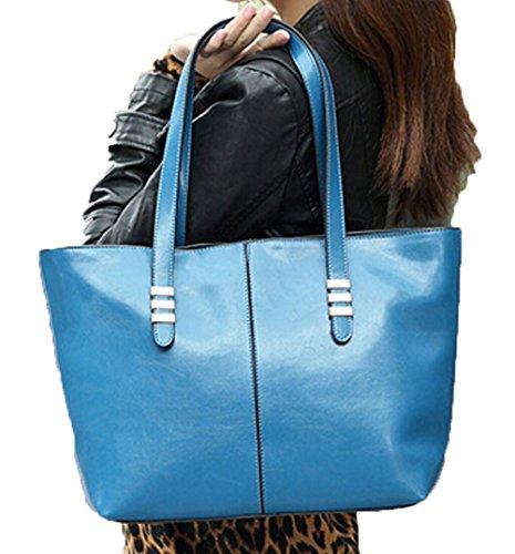 Bandoulière Pu Sac Besace Totes Fourre Femmes Epaule Cartable Bleu L'épaule Main Porté Capacité Dato Cuir Grand À A tout Ht4xx
