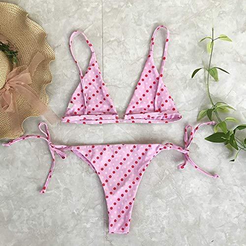 colore Dimensione Costume Punti Alla S Bagno Da Wave Qiusa A Bikini Moda Point Tre M PHqpxdO