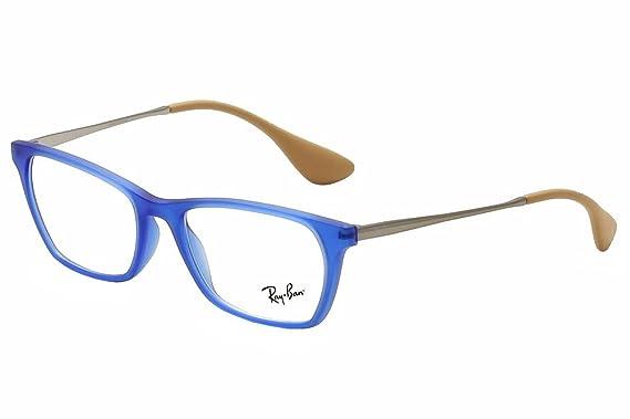 83f7e5dc2484 ... ebay ray ban vista rx 7053 5524 eyeglasses rubber blue 54b7b 1ba4f