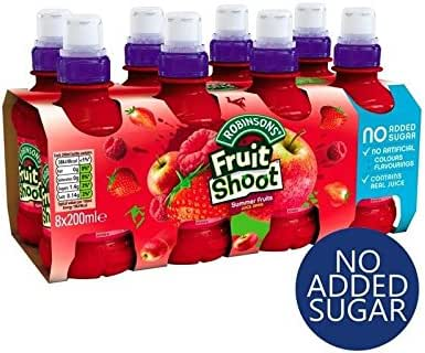 Robinsons Fruit Shoot Summer Fruits No Added Sugar 8 x 200ml