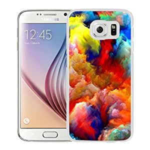 NEW Unique Custom Designed Samsung Galaxy S6 Phone Case With Oil Painting Colorful Strokes_White Phone Case