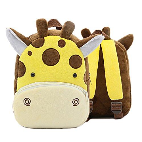 Gosear Cartoon Kinder Kind Kleine Soft Plüsch Schultasche Schule Tasche Rucksack für Junge Mädchen Geschenk Satchel Cat E 5bOsX5