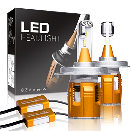 H4 LED Headlight Bulbs Autofeel 8000LM Super Bright Car Exte