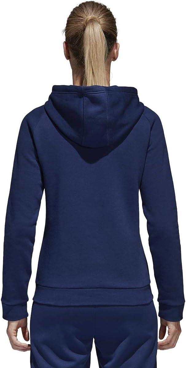 adidas Damen Core18 Hoodie Sweatshirt Dunkelblau / Weiß