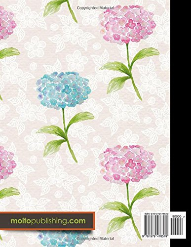 3 Column Ledger: Account Book Journal, Accounting Notebook, Ledger Books For Bookkeeping, Hydrangea Flower Cover, 8.5″ x 11″, 100 pages (Volume 77)