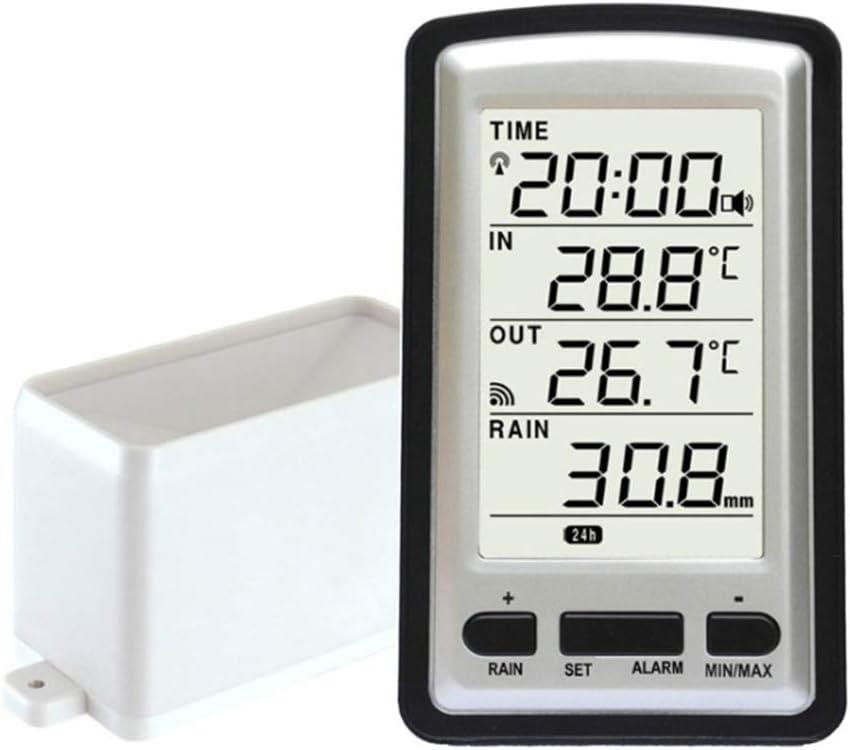 impostazione del Fuso orario e Allarme orario Bclaer72 Pluviometro termometro Professionale per Interni ed Esterni Senza Fili Indipendente con Calendario