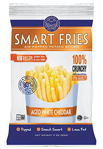 Gourmet Basics Smart Fries Vintage Cheddar, 3-Ounce Bags (Pack of 12)
