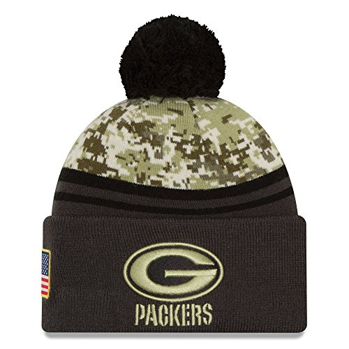 (Green Bay Packers Salute to Service Knit Hat)