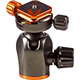 3 Legged Thing Eclipse AirHed 360 Magnesium Ball-Head with 360 Clamp and Arca Compatible Plate, 88 lbs Capacity, Orange and Gray