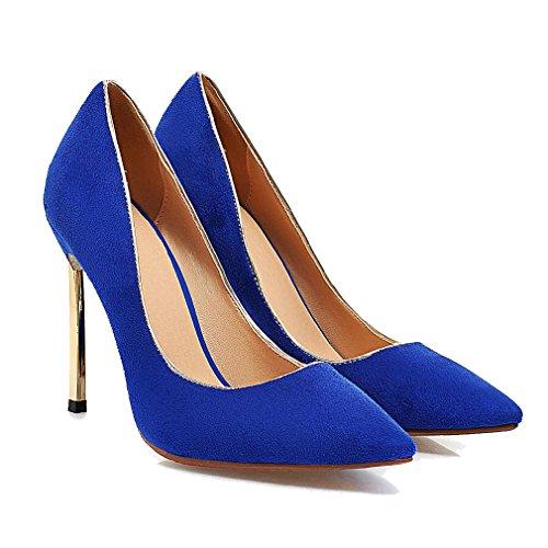 Enmayer Women Glitter Dress Pumps Tacchi Alti Da Donna Pumps Party Dress Scarpe Blu