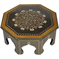 Indian Decorative Wooden Table / Small Table Wooden 14 x 14 x 6 Inch