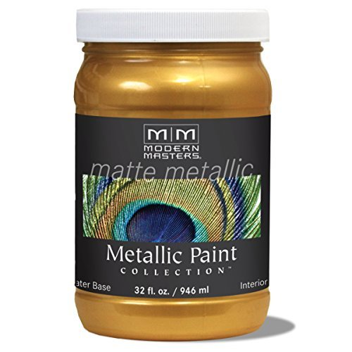 - Modern Masters MM659 Matte Metallic Paint, Olympic Gold, Quart by Modern Masters