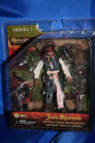 NECA Pirates of the Caribbean Dead Man's Chest Series 2 Captain Jack Sparrow Action (Pirates Of The Caribbean Jack Sparrow Pistol)