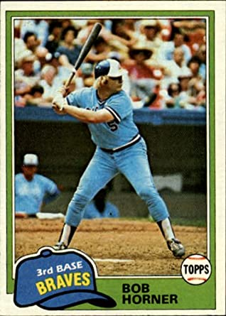 Amazoncom 1981 Topps Baseball Card 355 Bob Horner Mint