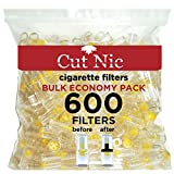 Cut-Nic 4 HOLE Disposable Cigarette Filters - Bulk Economy Pack (600 Per Pack)