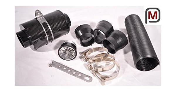 Filtro de aire deportivo universal aire frío incl. Turbo RAD carbono real con Flexrohr COLD AIR INTAKE: Amazon.es: Coche y moto