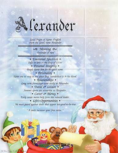 - Letter To Santa - Personalized ANY First Name Meaning Print Artwork Keepsake | Christmas Holidays Wall Decor Kids Artwork Gift Tree Claus