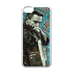 Customized Cell Phone Case for iPhone 5C - Johnny Cash case 1