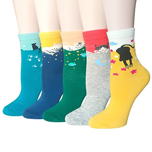 cute-animal-design-womens-casual-comfortable-cotton-crew-socks