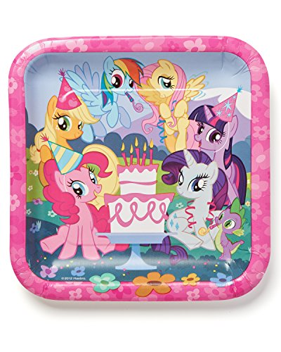 American Greetings, My Little Pony Paper Dinner Plates, 8-Count