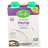 Pacific Natural Foods Hemp Vanilla - Non Dairy - Case of 6 - 8 Fl oz.