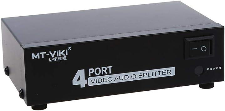 4-Port 1-En 4-out RCA AV Audio Video TV Box HDTV DVD Divisor de conmutación Compuesto, Otra: Amazon.es: Electrónica