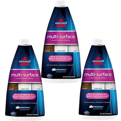 Bissell Crosswave, 3 Pack, 32oz Multi Surface Formula (Floor Surface Cleaner Multi)