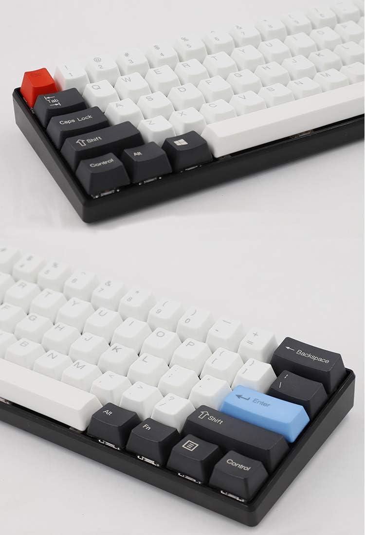 Feicuan 61 Teclas Keycaps ANSI Layout Perfil OEM Grueso PBT Keycaps Set para 60% Teclado mecánico (Sin Teclado) -Top Print