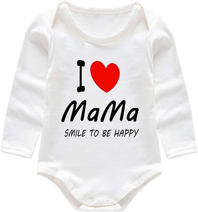 QinMMROPA Mono recién Nacido para bebés niños niñas Estampado de ...