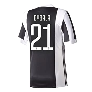 Casa de la Juventus Dybala camiseta No21 2017 2018 (oficial jugador impresión), hombre, blanco / negro: Amazon.es: Deportes y aire libre