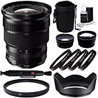 Fujifilm XF 10-24mm f/4 R OIS Lens + 72mm +1 +2 +4 +10 Close-Up Macro Filter Set with Pouch + 72mm Multicoated UV Filter + 72mm Wide Angle Lens + 72mm 2x Telephoto Lens with pouch Bundle 6