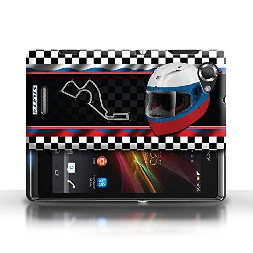 Etui / Coque pour Sony Xperia L/C2105 / Russie/Sochi conception / Collection de F1 Piste Drapeau