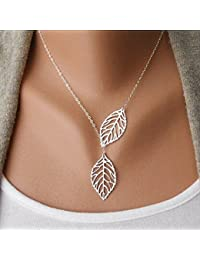 Chic Leaf Shaped Chain Jewelry Necklaces for Women and...