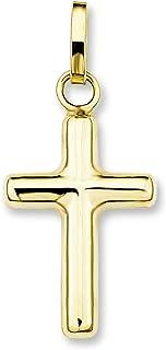 amor Damen Herren Unisex-Anhänger Kreuz 375 Gelbgold glänzend 19 mm Geburt Taufe Kommunion Firmung Konfirmation