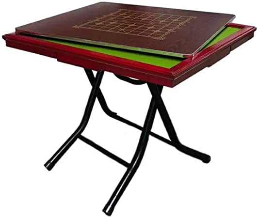 Yoyogi Mahjong Mesa, Mesa de Comedor, Doble Uso, Mesa Plegable Mahjong con 4 cajones, Cubierta Adecuada for Jugar a Juegos de Cartas, Juegos de Mesa, Estudiar, 90x90 cm: Amazon.es: Hogar