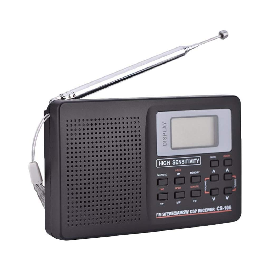 ZWS Radio FM Radio Portable Radio Receiver Support FM/AM/SW/LW/TV Sound Full Frequency Receiver Alarm Clock for Elderly Current Affairs Information (Size : 12.5cm)