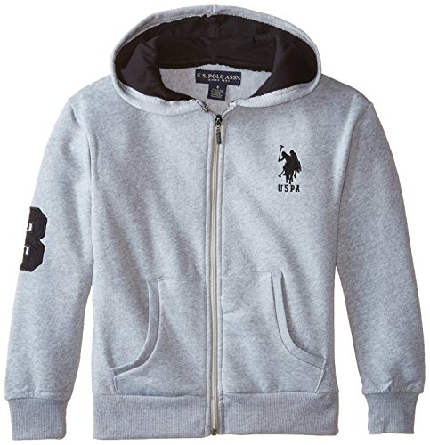 us-polo-assn-big-boys-classic-fleece-hoodie-light-heather-gray-14-16