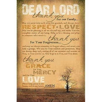 Family Prayer by Marla Rae Religious Faith Print Poster 12x18