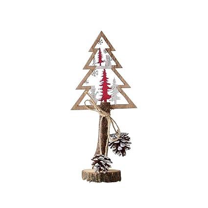 2018 Santa Christmas Tree Christmas Pendant Cute Wood Sleigh Pendant Gift Home Hanging Decorations Drop Ornaments #25 Diamond